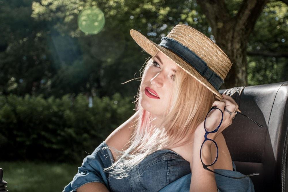 słomkowy kapelusz blog stylizacja