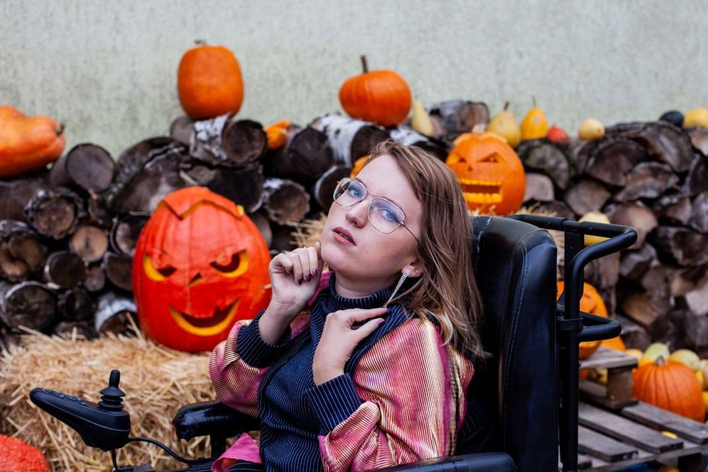 jesienna sesja z dyniami blog ze stylizacjami